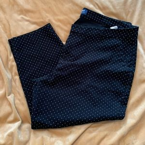 Polka dot Harper cropped pants